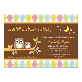 Whoo Loves You Owl Baby Shower Invitation