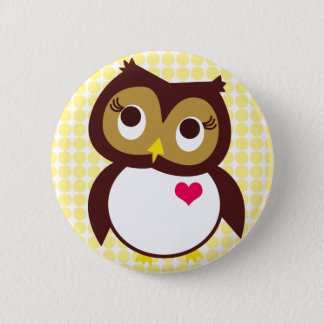 Whoo Loves You Pinback Button