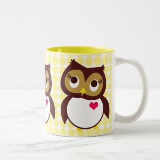 Whoo Loves You Two-Tone Coffee Mug