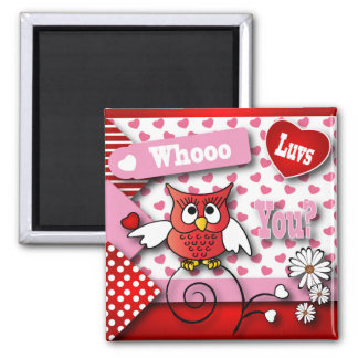 Whoo Luvs You Valentine Magnet