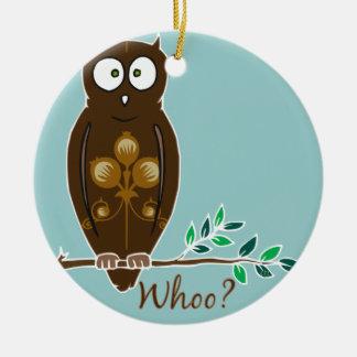 ¿Whoo? Ornamento del búho Ornamentos Para Reyes Magos