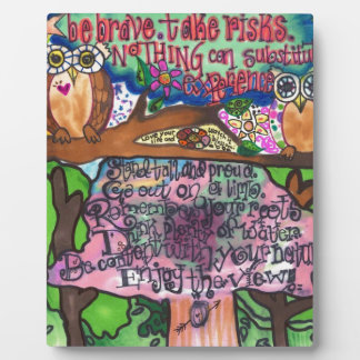 Whoo Says You Can't Be Brave? Display Plaque