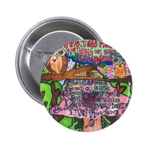 Whoo Says You Can't Be Brave? Pinback Button