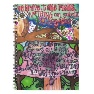 Whoo Says You Can't Be Brave? Spiral Notebooks