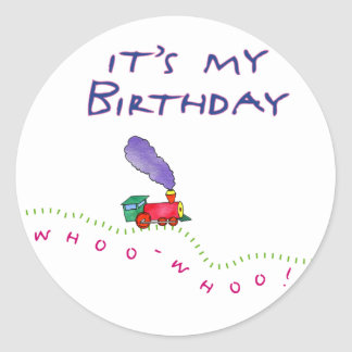 Whoo Whoo! It's My Birthday Stickers