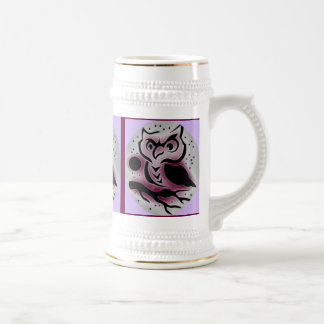 WHOO, WHOO, WHOO....WISE OLE OWL 18 OZ BEER STEIN
