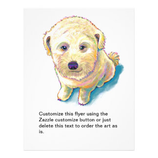 Whoodle dog painting fun poodle wheaten mutt cute flyer