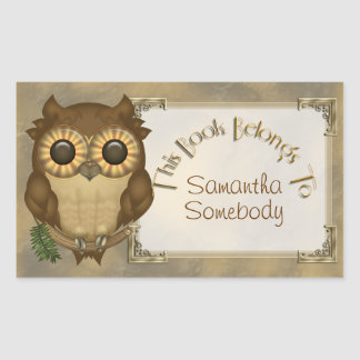 Whoolio The Cute Owl Bookplate Stickers