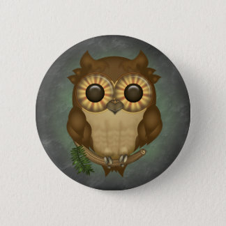 Whoolio The Cute Owl Round Buttons