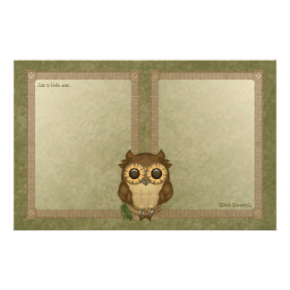 Whoolio The Cutest Owl Notepaper Customized Stationery