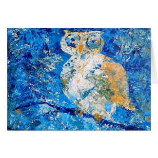 """""""Whooo Among You Is Wise?"""" by Chris Rice Note Card"""