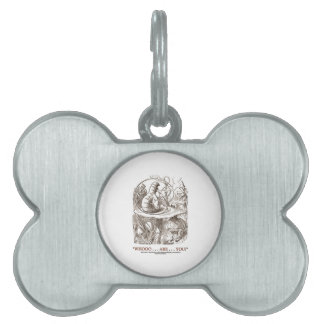 Whooo...Are...You? (Alice and the Caterpillar) Pet Tags
