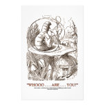 Whooo...Are...You? (Alice and the Caterpillar) Customized Stationery