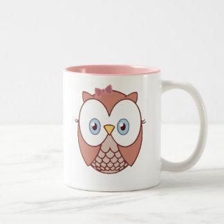 Whooo Owl Two-Tone Coffee Mug