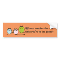 Whoooo Owls Bumper Sticker