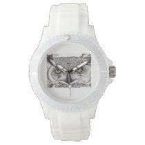 """Whooooooooooooo""  Cares What Time It Is! Wrist Watch"