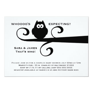 Whooooo's expecting MOD owl silhouette on branch Card