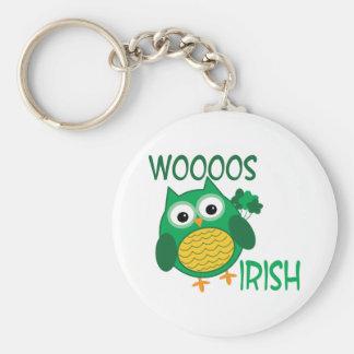 Whooos Irish Basic Round Button Keychain