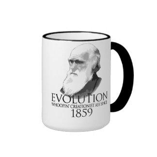 Whoopass Darwin shirt Ringer Mug