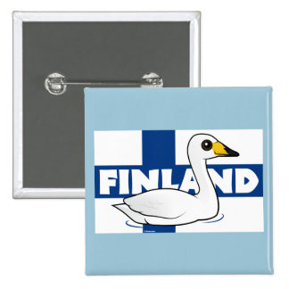 Whooper Swan of Finland Pinback Button