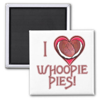 Whoopie Pie Love Apparel, Aprons, Gifts 2 Inch Square Magnet