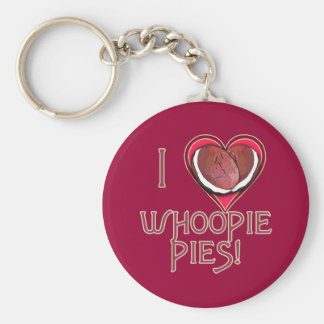 Whoopie Pie Love Apparel, Aprons, Gifts Basic Round Button Keychain