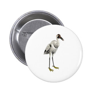 Whooping Crane 2 Inch Round Button