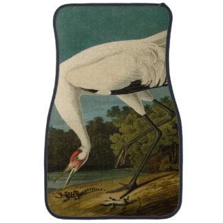 Whooping Crane Audubon Bird Print Car Mat
