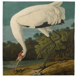 Whooping Crane Audubon Bird Print Cloth Napkin
