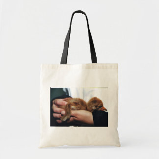 Whooping Crane Chick Tote Bags