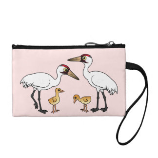 Whooping Crane Family Coin Purse