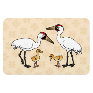 Whooping Crane Family Magnet