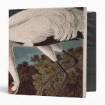 Whooping Crane, from 'Birds of America' 3 Ring Binders