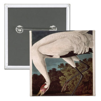 Whooping Crane, from 'Birds of America' Buttons