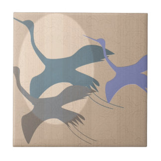 Whooping Crane Small Square Tile