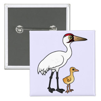 Whooping Crane with Chick Button