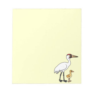 Whooping Crane with Chick Notepad