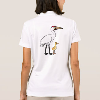 Whooping Crane with Chick Polo Shirt