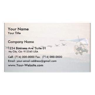 WhoopingCranesFollowUltralite Business Card Template