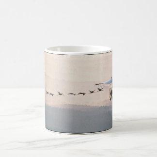 WhoopingCranesFollowUltralite Coffee Mug