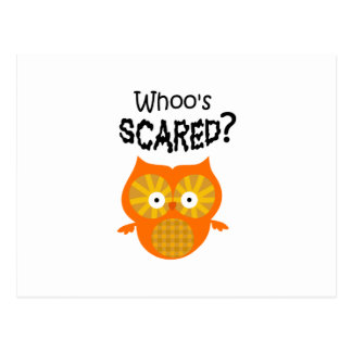 WHOOS SCARED POSTCARD