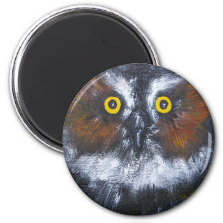 """""""Whoo's Who?"""" Round Magnet"""