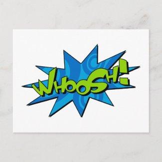 Whoosh Comic Book Postcard postcard