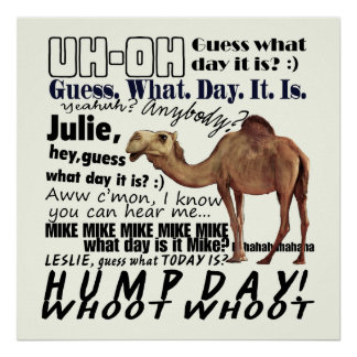 Whoot Whoot! Hump Day Poster