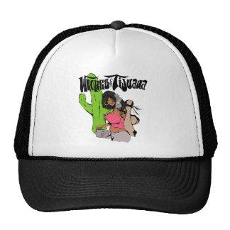 Whores of Tijuana Girl With Gun Trucker Hat