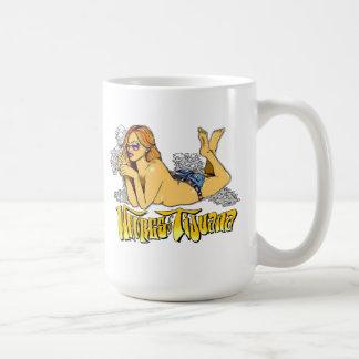 Whores of Tijuana Original Smoking Girl Coffee Mug