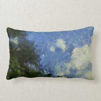 Whorls of the sky lumbar pillow