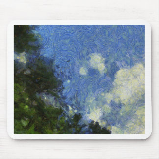 Whorls of the sky mouse pad