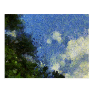 Whorls of the sky postcard