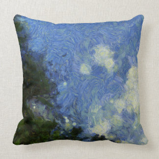 Whorls of the sky throw pillow